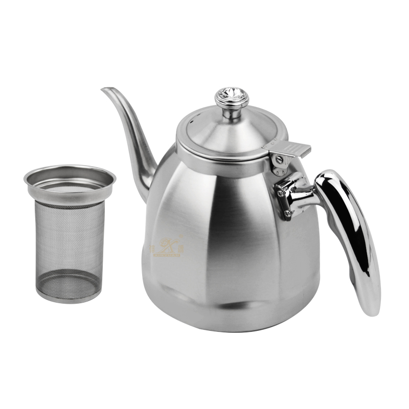 Stainless Steel tea pot [pt-  1.2LCapacity Thickened Stainless Steel Water Kettle Durable Teapot Coffee Pot Kettle