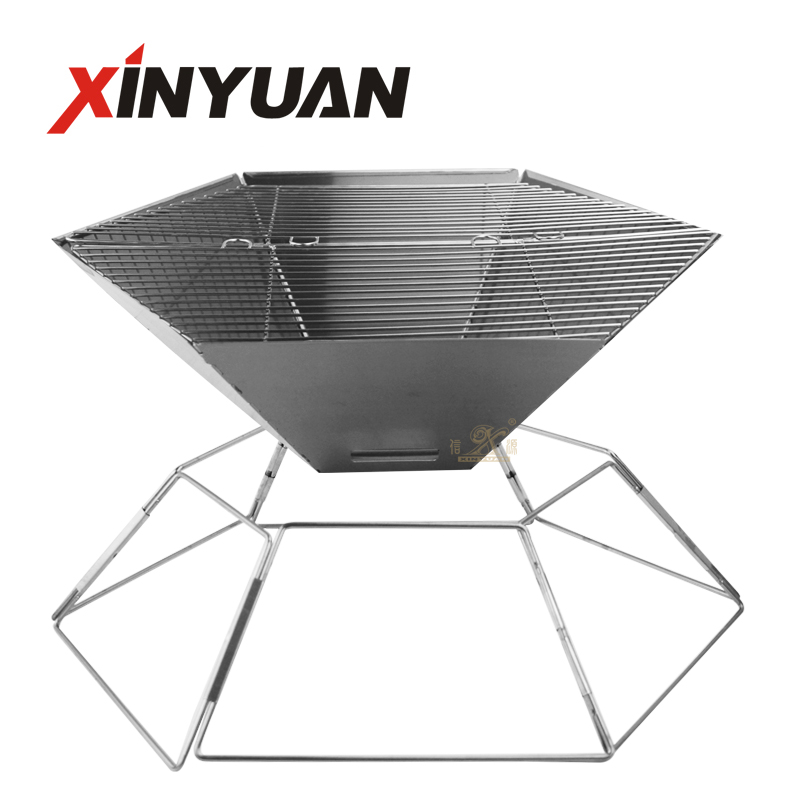 Barbecue Grill Camping Grill Original Portable Folding Charcoal BBQ Stove Made From Stainless Steel For Outdoor And Home Barbecue Grill for Camping Picnic