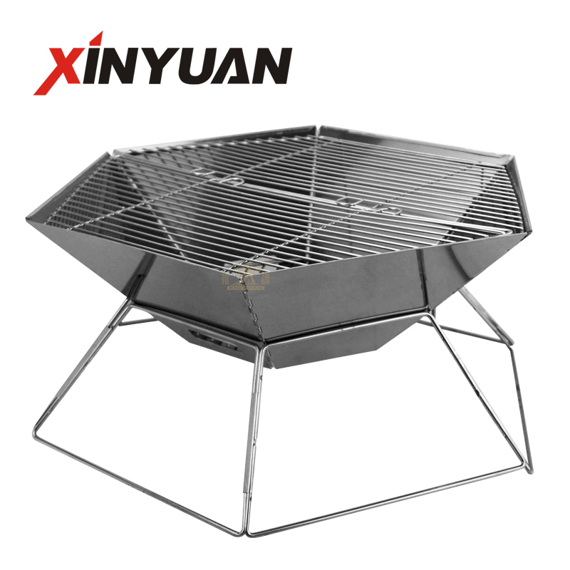 Outdoor Folding Barbecue Grill pan, Portable Barbecue Grill Drawer Charcoal Grill BBQ Camping Barbecue Grill