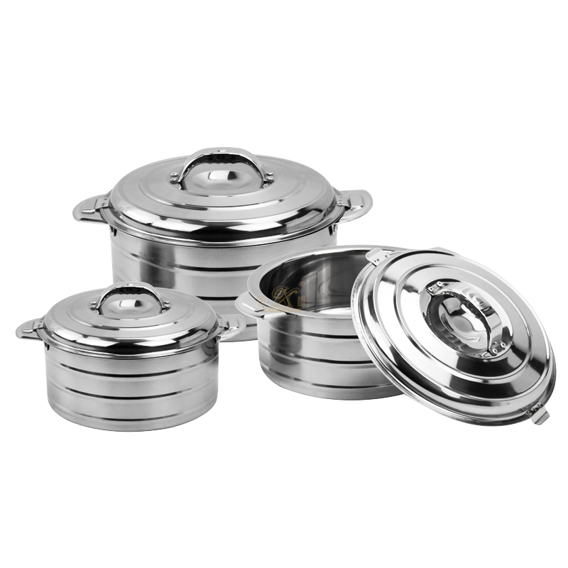 Premium Shallow Casserole Pot with Lid Stainless Steel Pan Induction Base
