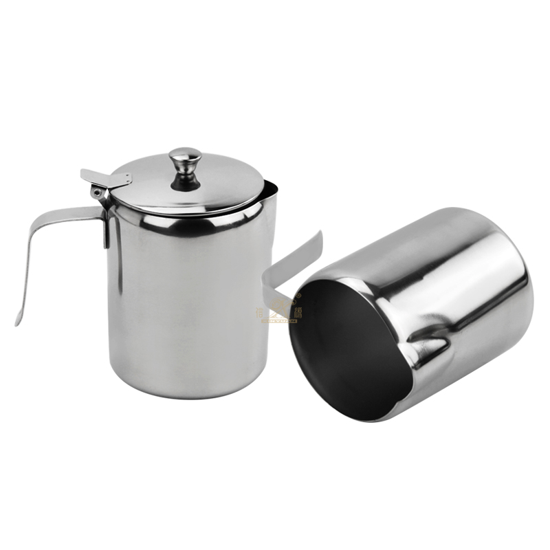 Stainless Steel Coffee Pot Pull Flower Espresso Frothers Cup Milk Jug Large Capacity Coffee Pot Used By Induction Cooker