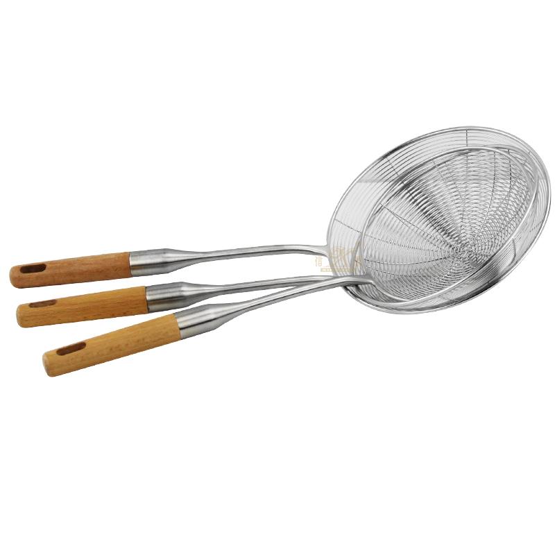 Oil skimmer Kitchen Gadgets Long Handle Skimmer Oil Filter Scoop Mesh Strainer Stainless Steel Colander spoon