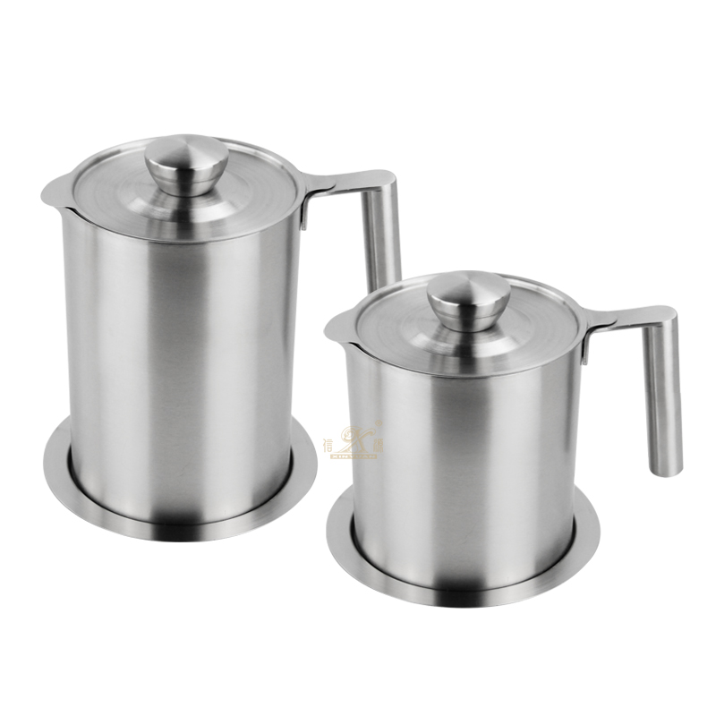 Grease Container Oil Strainer Pot Grease Can Stainless Steel Oil Cup With Fine Mesh Strainer Suitable For Storing Frying Oil And Cooking Grease