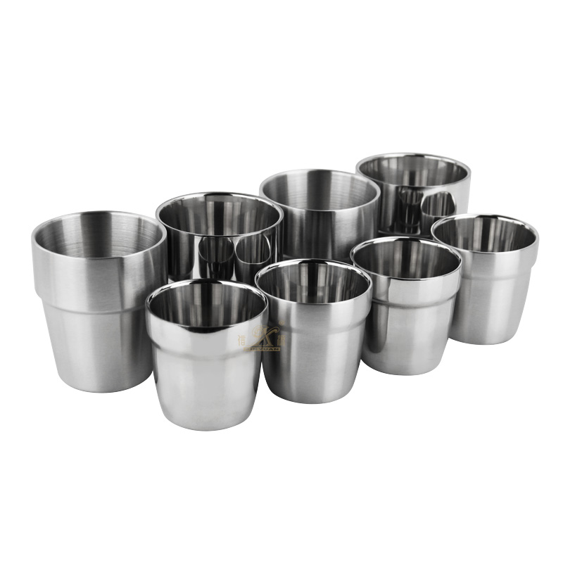 Stainless Steel Ice Cream Cup Double Wall Cups Stainless Steel Coffee Mug – Perfect for Cold Drinks – Dishwasher Safe
