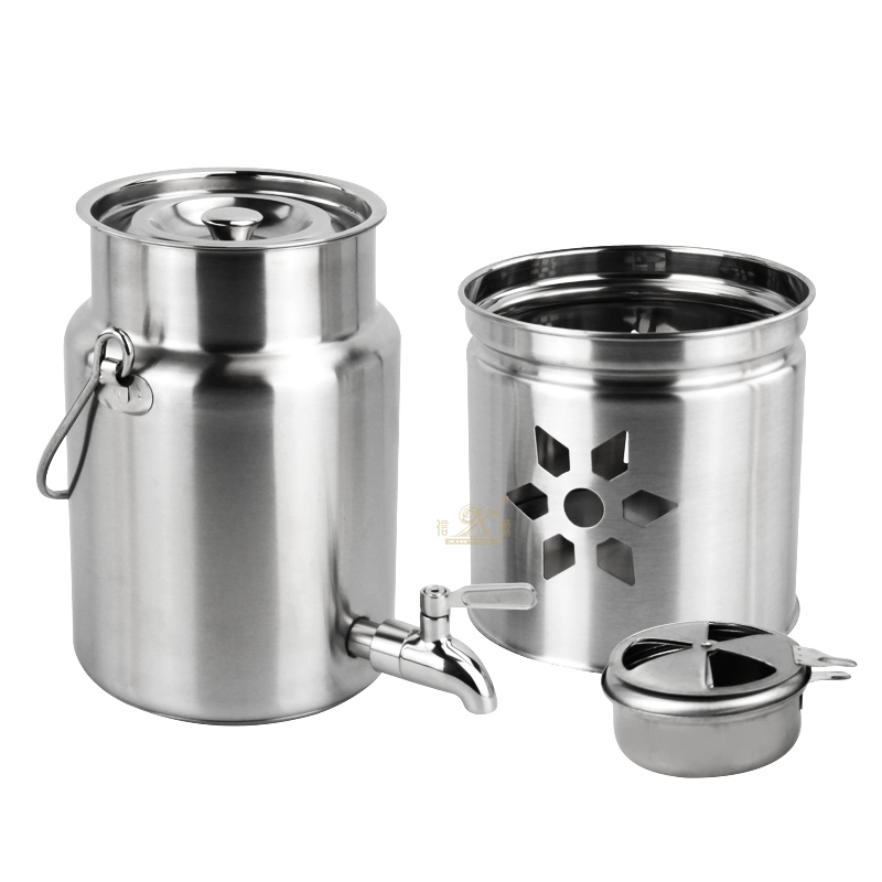 Stainless Steel Warm Dispenser Catering Hot Water Tea Urn Thermos Ice Bucket Beverage Warmers Drink Dispenser Double Wall Insulated Coffee Service
