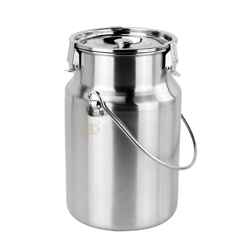 Milk Tea Bucket Barrel Can Transportable Milk Fermentation Barrel Bucket Tank Can with Handle Milk Water Tea Wine Tank Milk Can Liquid Storage Tins