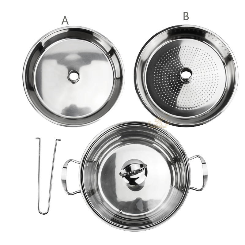 Stainless Steel Marmite Frying Pan and Saucepan Set With Lids Stay Cool Handles Stainless Steel Biryani Cooking Pot Sauce Pan