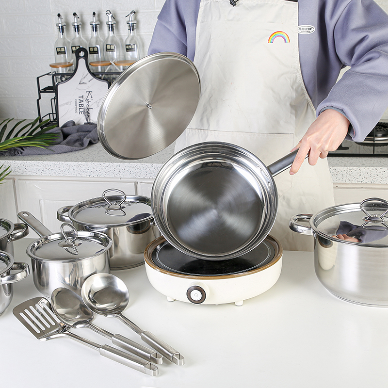 15-piece cookware set for performing virtually any cooking task