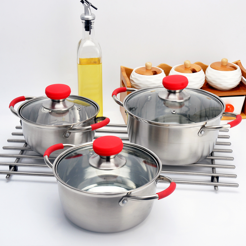 ECPURCHASE stainless steel Soup Pot ,pots for cooking set Stainless Steel Pot Soup Pots with Lids, Dishwasher Safe Cooking Pot for Home use and Restaurant