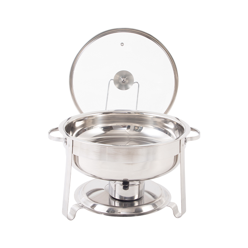 Artisan Stainless Steel  Buffet  set with Glass Lid, buffet dishes have 4-Quart Capacity