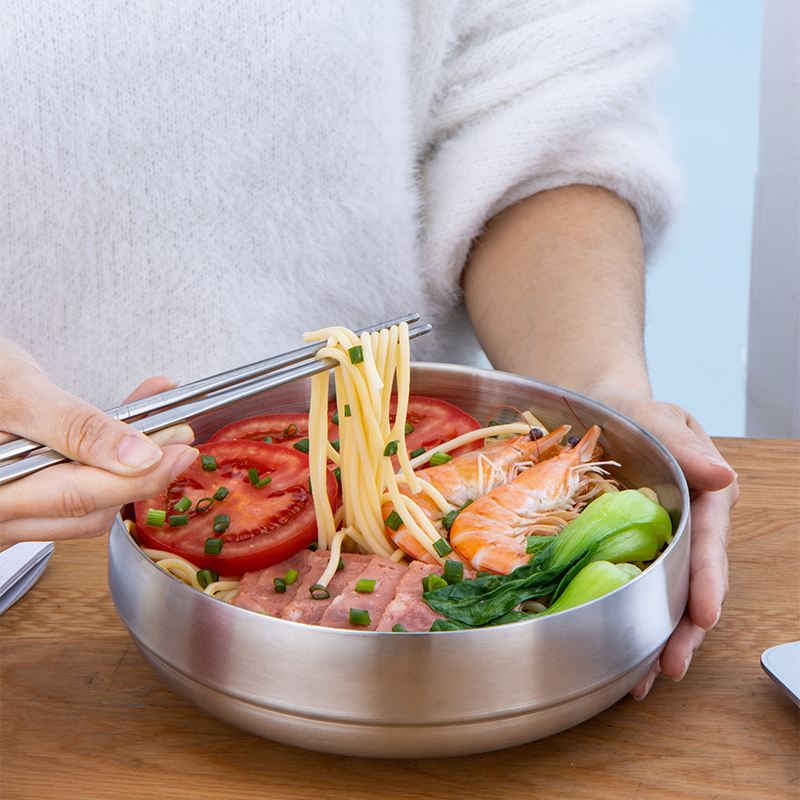 Hot selling stainless steel rice bowl Korean noodle bowl