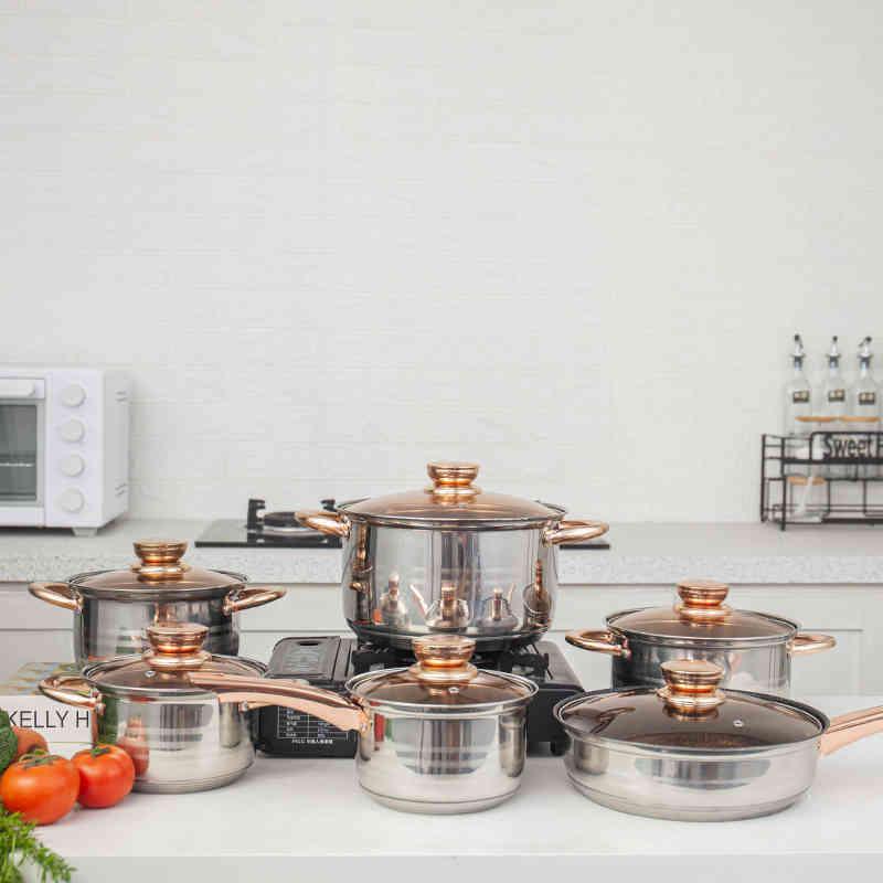 High quality aluminium pots sets cooking